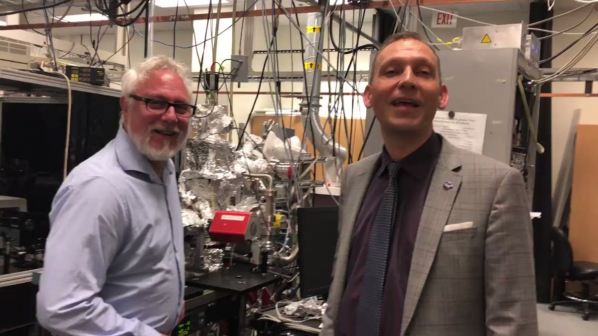 Dr. Thomas Orlando of Georgia Tech and Thomas Zurbachen of NASA in the REVEALS Lab