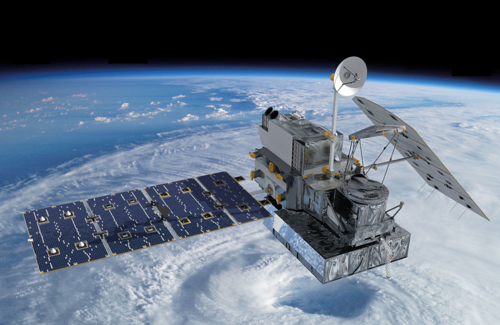 Image of a satelite in orbit