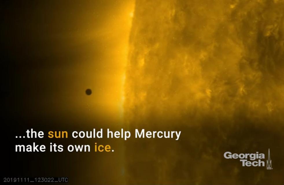Mercury's 400°C Heat May Help It Make Its Own Ice